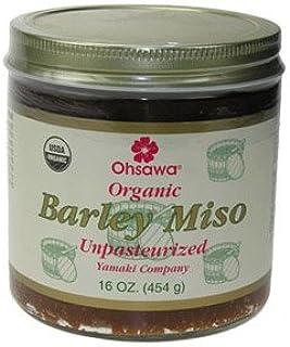 Ohsawa Yamaki Organic unpasteurized 2-Year Barley Miso - Macrobiotic, Vegan and Kosher - 1 Lb
