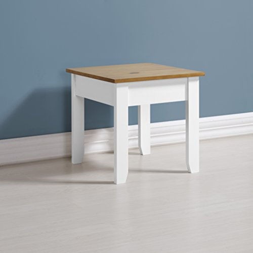 Home Essentials Ludlow Ludlow Lamp Table in White/Oak