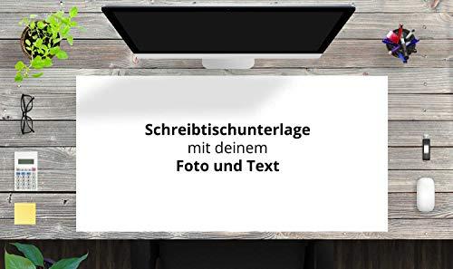 """Schreibtischunterlage XXL mit integriertem Mousepad – """"Zum Selbstgestalten"""" – aus erstklassigem, strapazierfähigem Vinyl (Kunststoff) – 100 x 50 cm – Tischmatte mit bestem Schutz – Made in Germany"""