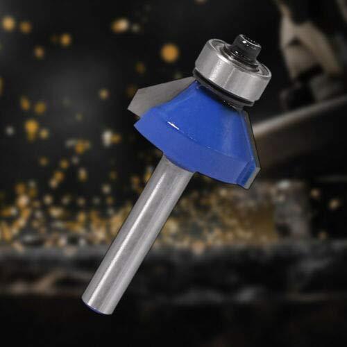 KuierShop(TM) Alloy 1/4'' Shank 45 Degree Chamfer Router Bit Wood Milling Cutter Best Durable