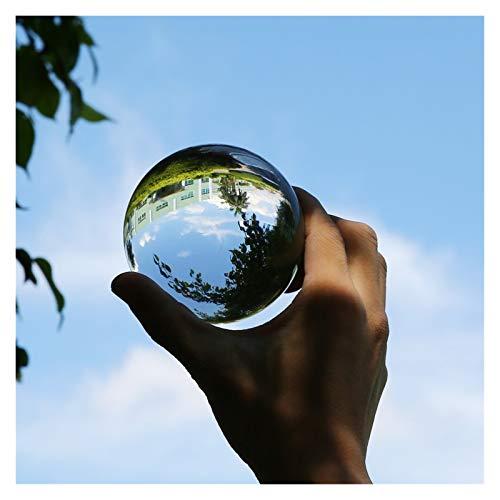 CCAN Bola de Cristal Transparente Curación Esfera de la Esfera de la Esfera de la Esfera de los Accesorios Regalos Nuevos Bolas Decorativas de Cristal Artificial 30 40 50 60 80 mm (Talla : 50mm)