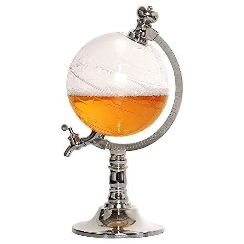 Cestbon Bar Dekoration Globus Dispenser Weinspender Bier Flüssigkeitsspender Home Decor Weinausgießer Bar Küchenwerkzeuge,Silber