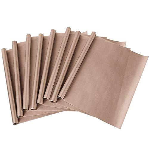 Ichen Tappetino da Forno Riutilizzabile Antiaderente Set 8 Pz Carta Cottura Foglio da Forno Tagliabile Lavabile in Lavastoviglie tappetini per forni Forno Regali ecosostenibili 40 * 60 cm ciascuno