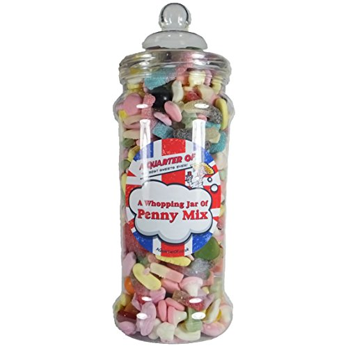A Whopping Jar of Penny Mix by A Quarter Of. 1.6kg of retro favourites.