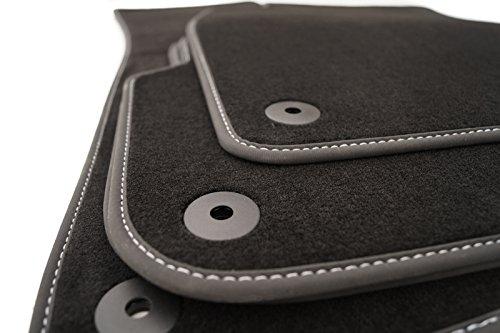 Premium tapis de sol pour audi a4 (b6 b7/original qualité et coutures argentées nubuck