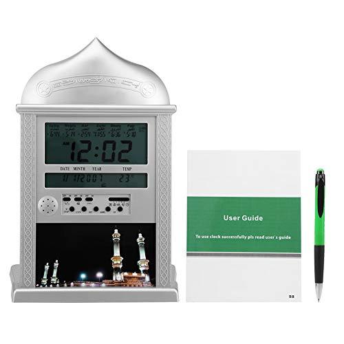 Islamischer Azan Wecker Muslim Azan Wanduhr Gebet Uhr Digital Alarm Athan Ha-4004 Uhr Silber
