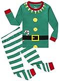 Pajamas For Girls Boys Christmas Elf Sleepwear Baby Striped Clothes Toddler Kids Pants Set 4t