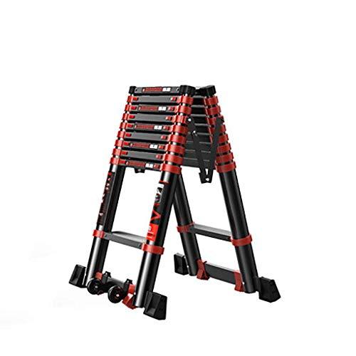 Telescopische ladder van aluminiumlegering, verlengstuk, draagbaar, uittrekbare antislip, opvouwbaar, trapladder, multifunctionele ladder 4.7+4.7m B5.