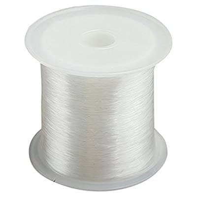 Fishing Line, Transparent Fishing Line Monofilament Strong Fish Wire Fishing Line Spool Beading 0.25mmx70m