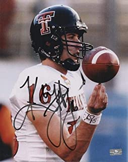 kliff kingsbury autographed football