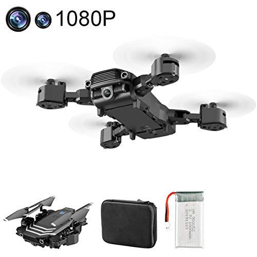 APJS Selfie Dron Cuadricóptero con Cámara Gran Angular 1080P WiFi FPV para Principiantes, Control de Largo Alcance/RC Drone Plegable Mando a Distancia, Baterías Volando por 20 Minutos,4K