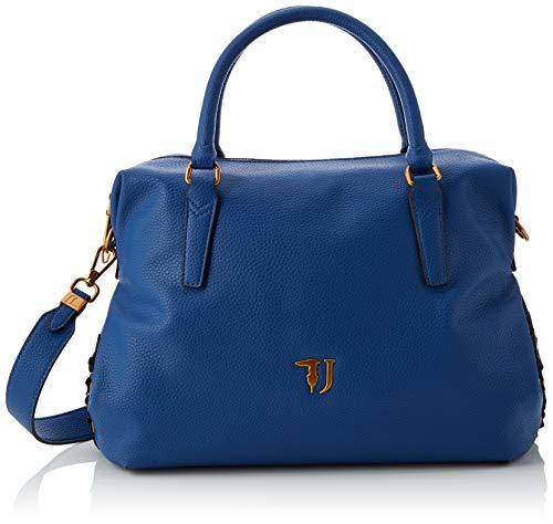 Trussardi Jeans Lavanda Satchel Bag, Borsa a Mano Donna, Blu (Bluette), 35x22x15 cm (W x H x L)