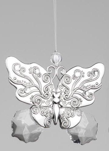 Formano Edler Dekohänger Fensterdeko Hängedeko Schmetterling aus Acryl und Metall, 10 cm