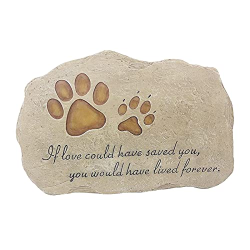 non_brand Pet Memorial Stone Perro Al Aire Libre Grave Marker Cat Garden Tombstone Lápida