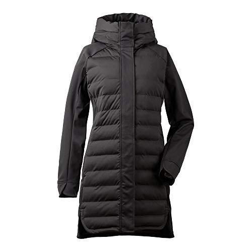 Didriksons Daga - Abrigo Acolchado para Mujer (Resistente al Viento, Transpirable), Color Negro