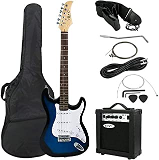 "ZENY 39"" Full Size Electric Guitar with Amp, Case and Accessories Pack Beginner Starter Package, Blue Ideal Christmas Than..."