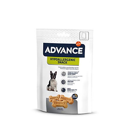 ADVANCE Snacks, Hypoallergenic Snack para Perro - Paquete de 7 x 150gr - Total 1050gr