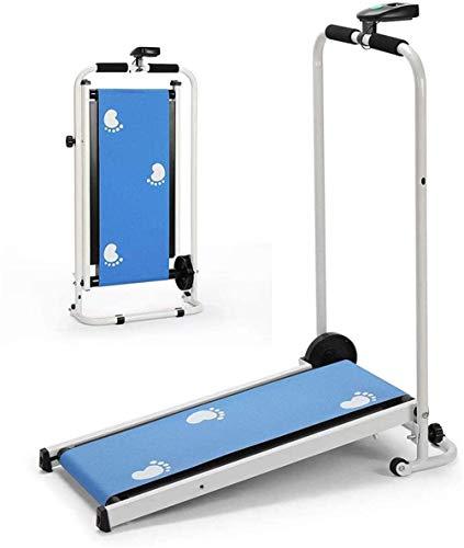 LUHUIYUAN Portable Mini mécanique Tapis Roulant Pliant, Manuel Courir Mini Fitness Marche Machine...