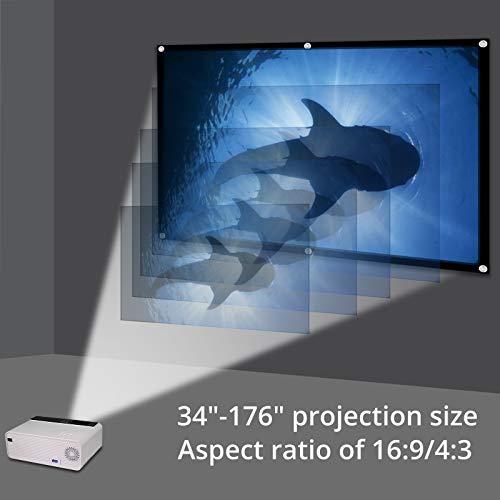 eSynic Proyector Portátil 1080P Proyector Cine en Casa LCD con ...