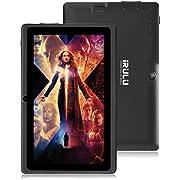 Tablet 7 Zoll Android 8.1 Quad Core Google Play Store 1024x600 Dual Kameras WiFi Bluetooth 1GB/8GB Google Play Store Netfilix Skype 3D Spiel GMS Zertifiziert Unterstützt - Schwarz