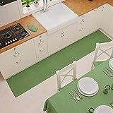 PETTI Artigiani Italiani - Alfombra de Cocina Antideslizante y Lavable, 52 x 240 cm, diseño Liso Verde, 100% Fabricado en Italia