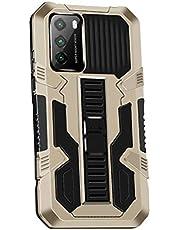 Grandcaser Capa para Poco M3 ultrafina de poliuretano termoplástico macio com suporte telescópico antiqueda e absorção de choque, capa protetora elástica para Xiaomi Poco M3 de 6,5 polegadas – Dourado