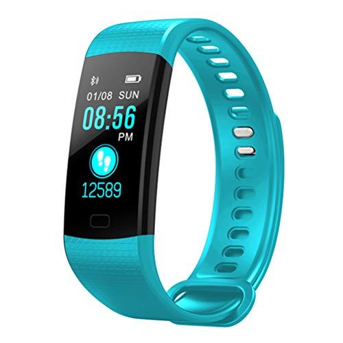 Pulsera deportiva inteligente Y5, reloj inteligente para hombres mujeres rastreador ejercicios a prueba agua, podómetro monitorizar la frecuencia cardíaca y la presión arterial, para iOS y Android