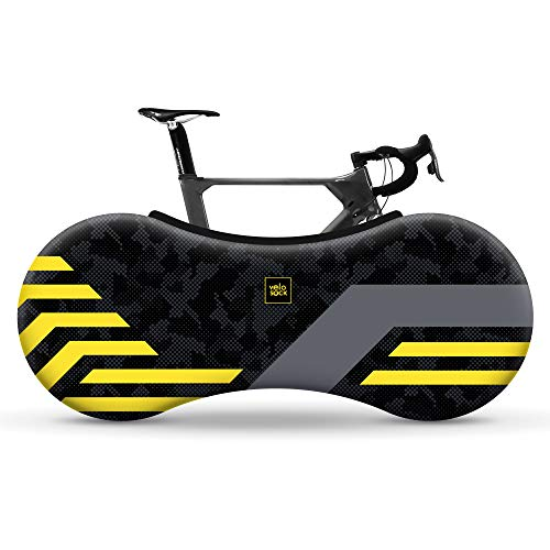 Velo Sock Yellow Lines Bike Cover Unisex-Adult, Taille Unique