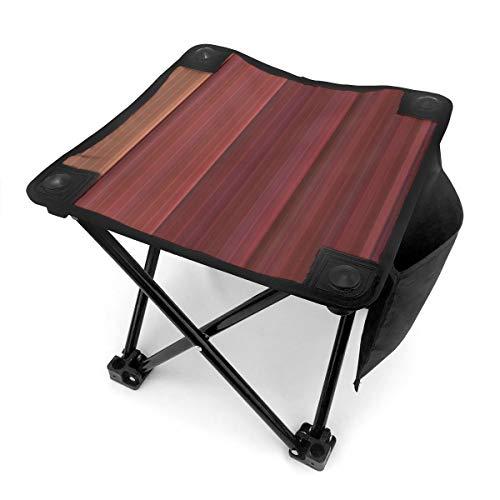 Nicokee Campingstuhl Klappstühle Kastanienbraun gestreift Tragbarer Stuhl Sitz mit Tragetasche für Outdoor Angeln Sport Wandern Garten Picknick Strand BBQ