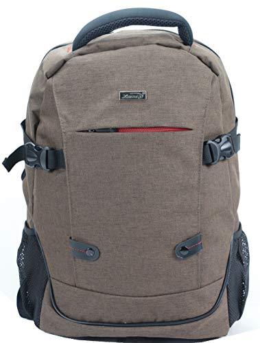 15.6' Laptop Backpack Lunch School Bag Case Padded Shoulder Bag Rucksack - Unisex - Brown