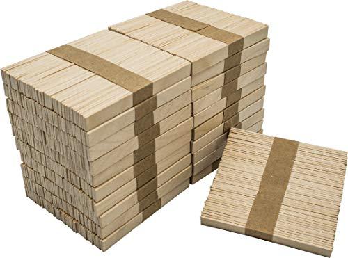 DON PALILLO - 1000 Bastoncini di gelato in legno per artigianato (ESTREMITÀ PIATTA). 10,5 cm