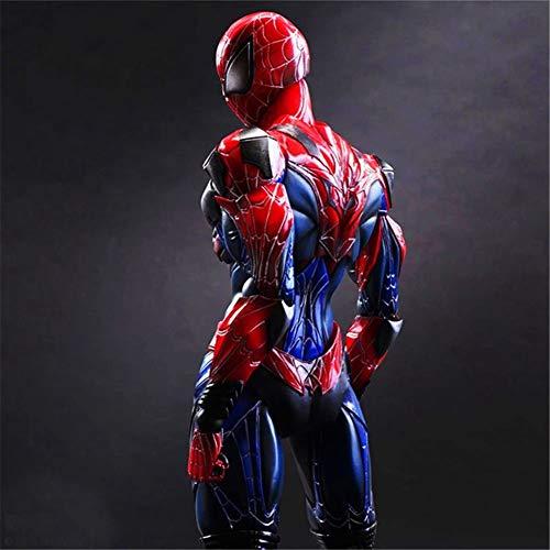Amyove Play Arts 27cm Schwarz & Rot Original Spider Man Darkness Spiderman Avengers Superheld Actionfigur Modell Spielzeug Spider Man