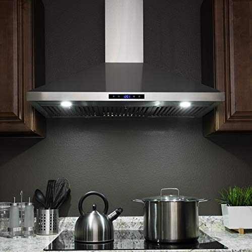 "FIREBIRD New 36"" European Style Wall Mount Stainless Steel Range Hood Vent W/Touch Sensor Control"