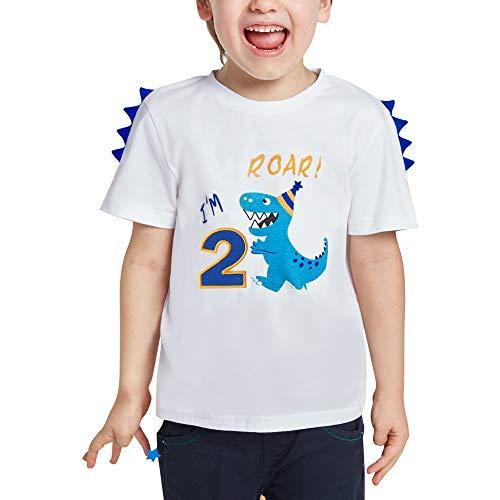 Dinosaur Birthday T Shirt - 2nd Birthday...