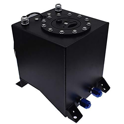 labwork Aluminum Fuel Tank Black 2.5 Gallon Drifting Fuel Cell Gas Tank+Level Sender Coated Aluminum Racing
