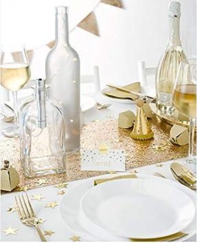 Talking Tables decoraciones de fiesta de navidad temporada festiva DAMASK-TCOVER-GLD-Funda para mesa color