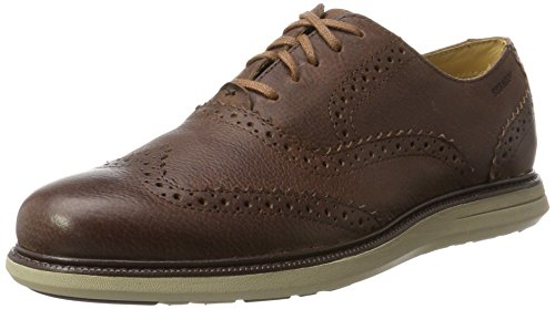 Sebago Smyth Wing Tip, Zapatos de Cordones Oxford Hombre, Marrón (Brown Leather), 41 EU