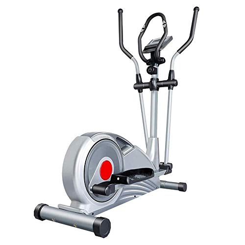 BJLWTQ Exercise Bike, Cross Trainer Elliptical Trainer With LCD Monitor Home Office Fitness Workout Machine Magnetic Cardio Workout 121x63x162cm Cycling Bike,