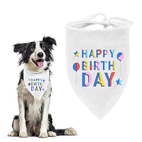 ASOCEA Hond Verjaardag Bandana Huisdier Partij Witte Driehoek Bib Jongens Meisjes Sjaal Accessoires Puppy Doggie Kernhoofd Hals voor Kleine Medium Grote Honden