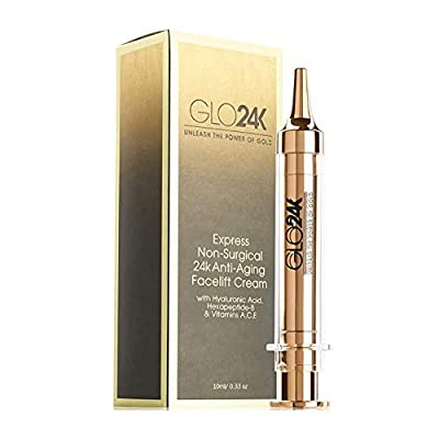 GLO24K Instant Facelift Cream with 24k Gold, Non-Surgical, Fast-Acting Anti-Wrinkle from