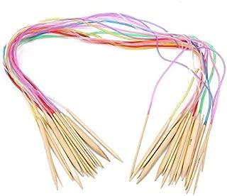 Hook Latch Kit - Natural Bamboo Flexible Afghan Tunisian Carpet Crochet Hooks Needles Multicolor Knitting Set - Self Titanium Double Jeans Easy Holder Thread Multi Blunt Long Thimble Open 60m