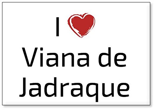 Mundus Souvenirs - Amo Viana de Jadraque, Imán para Nevera (diseño 1)