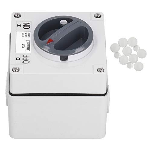 Material de PC 500V Botones Indicadores Interruptor de aislamiento a prueba de polvo para control exterior para control industrial(3P63A)
