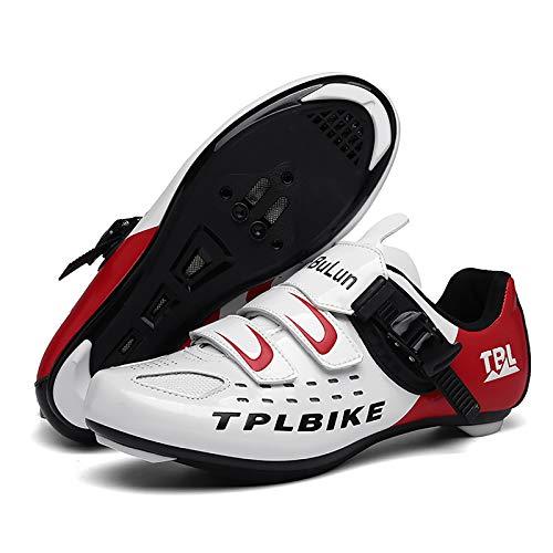 scarpe bici da corsa uomo ZED- Scarpe da Ciclismo da Uomo Donna Scarpe Bici da Corsa Scarpe Ciclismo Strada Traspirante Anti-Scivolo Scarpe da Bici per Ciclismo All'Aperto