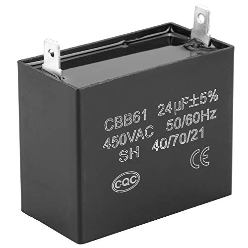 Condensador de Arranque CBB61, 450 V CA 24 uF 50/60 Hz Condensador de Funcionamiento para Funcionamiento del Motor del Ventilador de Techo