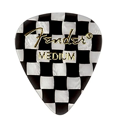Fender 351 Shape Graphic Picks (12 Pack) for electric guitar, acoustic guitar, mandolin, and bass