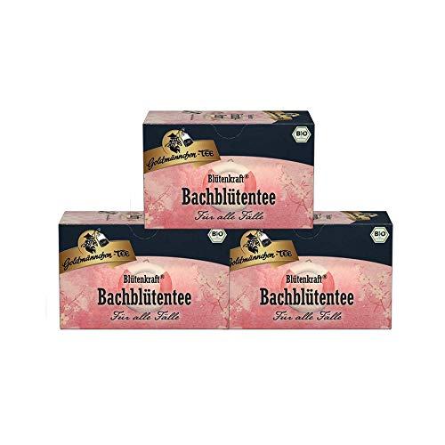Goldmännchen Bachblüten Tee Blütenkraft Rettung, 20 einzeln versiegelte Teebeutel, 3er Pack (3 x 30 g)