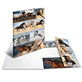 HERMA Carpeta 19217, DIN A3, animales, caballos, de cartón