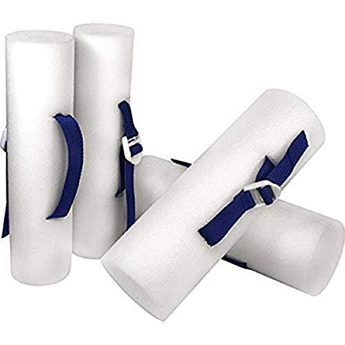 Kiefer EZ Grip Foam Water Dumbbells (1-Pair), White, 12 x 3-Inch