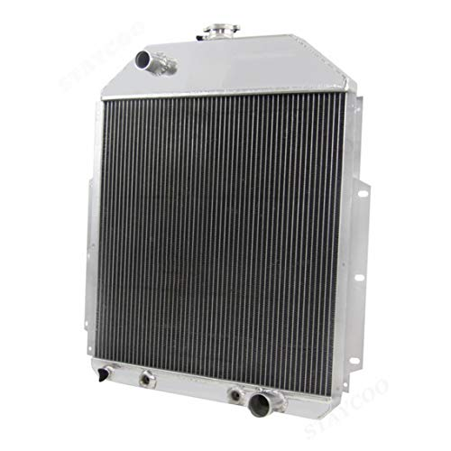 CoolingSky 62MM 4 Row Core Aluminum Radiator for 1942-1952 Ford F1 F2 F3 Truck Pickup (Chevy Engine Conversion)